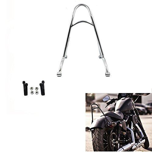 Chrome Short Sissy Bar Backrest For Harley Sportster XL1200 XL883 48 2004-2016