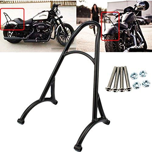 Kawayee Motorcycle Black Short Passenger Sissy Bar Backrest For Harley Sportster Iron 1200 883 XL 2004-2015
