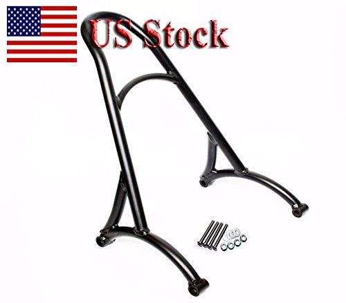 US STOCK Motorcycle Black Upright Steel Short Sissy Bar Passenger Backrest Rack For 2004-2016 Harley Sportster XL 883 1200 Roadster Custom XL883R 1200R XLH1200 04-UP