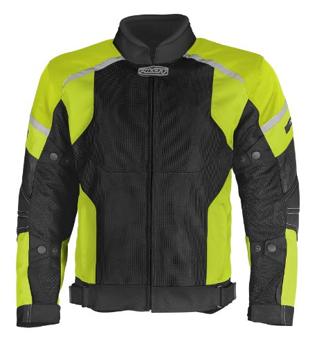 Pilot Mens Direct Air Mesh Motorcycle Jacket Hi-VisBlack Large