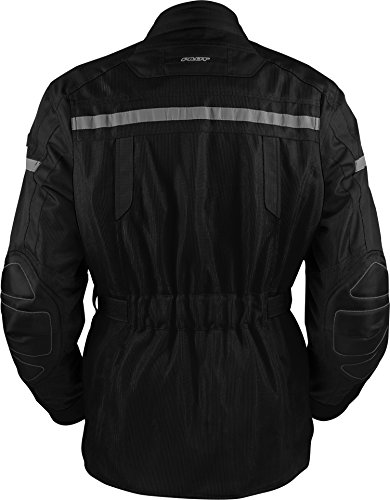 Pilot Motosport Mens TRANSURBAN Air Jacket BlackBlack X-Large