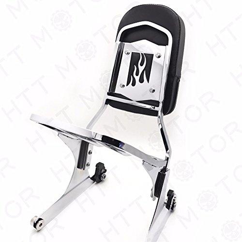 NEW Detachable Sissy Bar Backrest Luggage Rack for Harley FATBOY Softail FLSTN