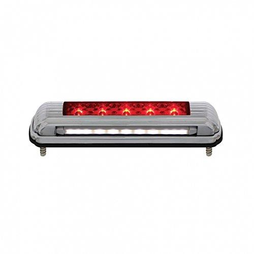 United Pacific Chrome License Plate Light With Red Led 3Rd Brake Light Art Deco Flush Mount Design 110203