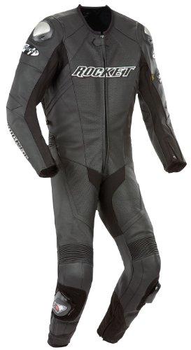 Joe Rocket Speedmaster 6.0 Men's One-piece Motorcycle Race Suit (black/black/black, Size 54)