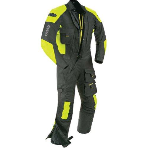 Joe Rocket Survivor Suit Men's 1-piece On-road Racing Motorcycle Race Suit - Charcoal/hi-viz / X-large