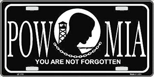 1  P O W - M I A  Metal License Plate  And  1  Black Wood Frame 17A4037B39590