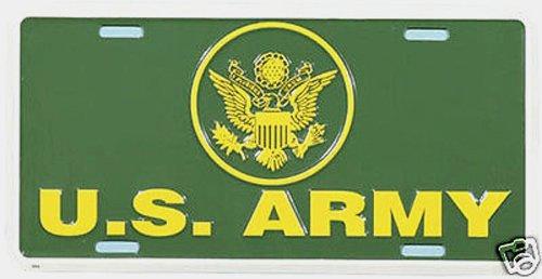 1  U S ARMY  Metal License Plate And  1  Black Polyethylene Frame8A2037A2021B100594