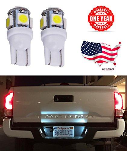 LED Monster 2x 168 194 T10 5SMD LED Bulbs Car License Plate Lights Lamp White 12V 1