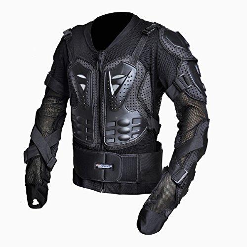 CHCYCLE Motorcycle Full Body Armor Motocross ATV Motorbike Jacket Protector Medium Black