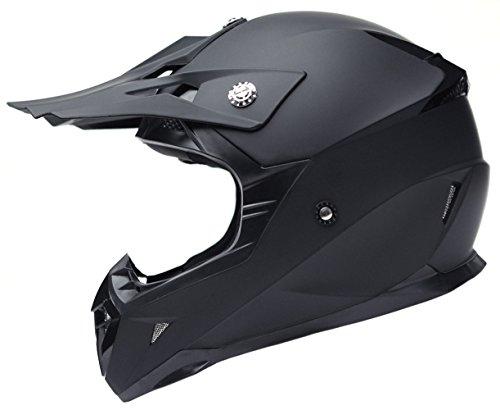 Motorcycle Motocross ATV Helmet DOT Approved - YEMA YM-915 Motorbike Moped Full Face Off Road Crash Cross Downhill DH Four Wheeler MX Quad Dirt Bike Helmet for Adult Men Women - Matte BlackMedium