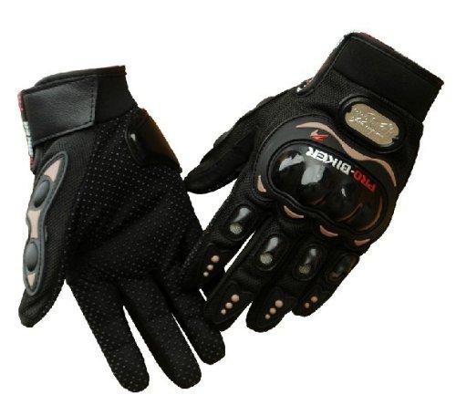 Tcbunny Pro-biker Motorbike Carbon Fiber Powersports Racing Gloves Black Large