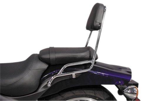 MC Enterprise Chrome Sissybar and Backrest for 2001-2009 Suzuki M50 BoulevardV
