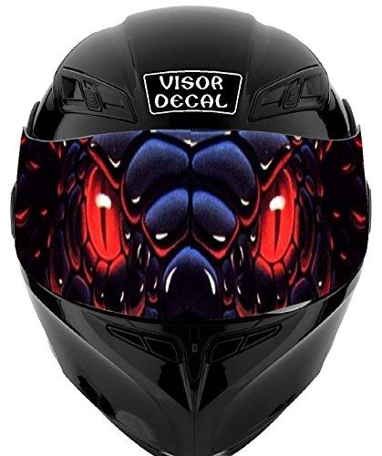 V09 Snake VISOR TINT DECAL Graphic Sticker Helmet Fits Icon Shoei Bell HJC Oneal Scorpion AGV