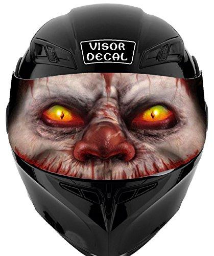 V15 Evil Clown VISOR TINT DECAL Graphic Sticker Helmet Fits Icon Shoei Bell HJC Oneal Scorpion AGV