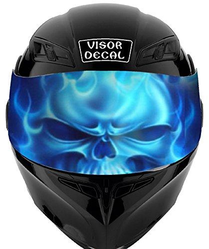V27 Skull VISOR TINT DECAL Graphic Sticker Helmet Fits Icon Shoei Bell HJC Oneal Scorpion AGV