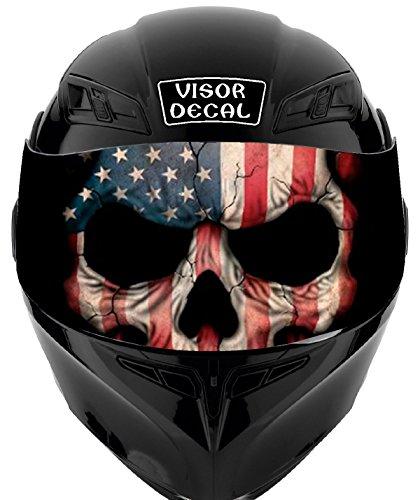 V33 American Flag Skull VISOR TINT DECAL Graphic Sticker Helmet Fits Icon Shoei Bell HJC Oneal Scorpion AGV