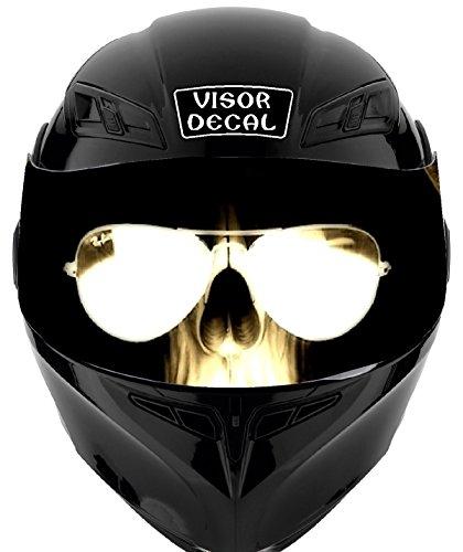 V39 Skull VISOR TINT DECAL Graphic Sticker Helmet Fits Icon Shoei Bell HJC Oneal Scorpion AGV