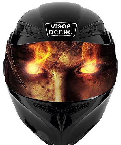 V40 Devil Demon VISOR TINT DECAL Graphic Sticker Helmet Fits Icon Shoei Bell HJC Oneal Scorpion AGV