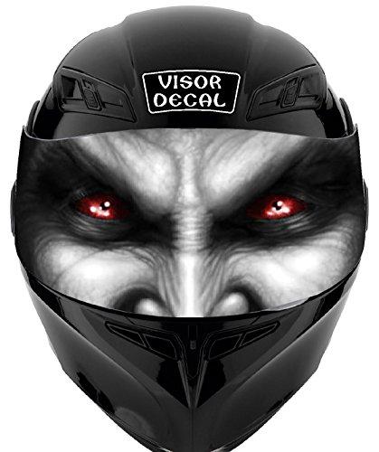 V41 Devil Demon Vampire VISOR TINT DECAL Graphic Sticker Helmet Fits Icon Shoei Bell HJC Oneal Scorpion AGV