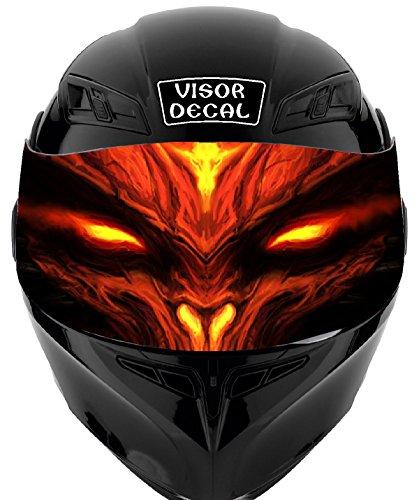 V44 Devil Demon VISOR TINT DECAL Graphic Sticker Helmet Fits Icon Shoei Bell HJC Oneal Scorpion AGV