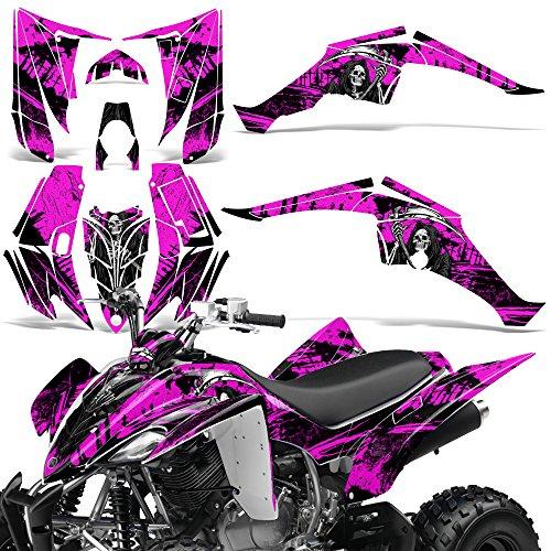 Yamaha Raptor 350 2004-2014 Decal Graphic Kit Quad ATV Wrap Deco Racing Parts REAPER PINK