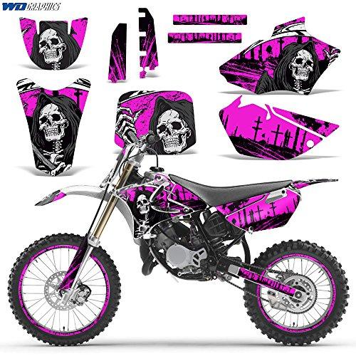 Yamaha YZ 85 2002-2014 Decal Graphic kit for Dirt Bike MX Motocross Deco YZ85 REAPER PINK