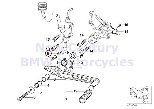 BMW Genuine Motorcycle Transmission Gear Shift Plastic Bush R80GS R80ST R100R R100R Mystik R1100GS R1100R R850 R1100RS R1100S R1100RT R100GS R100GS PD R100GS R100GS PD R1200C R1200 Montauk R1200C Ind