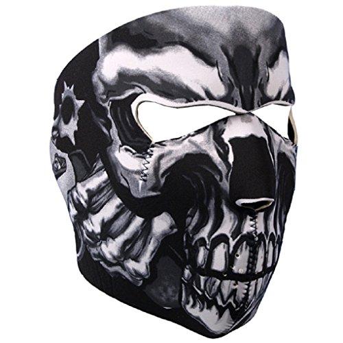 Assassin Skull Neoprene Motorcycle Face Mask - Biker Gear