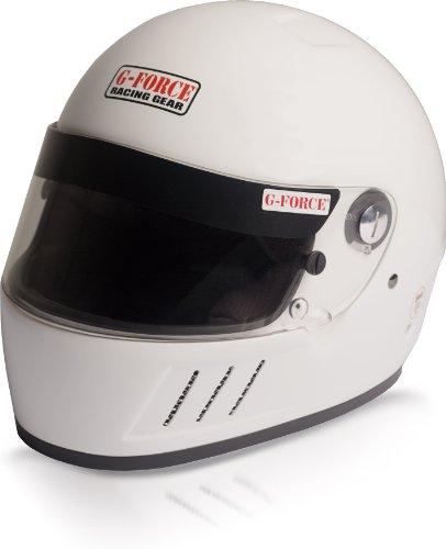 G-Force 3023MEDWH Pro Eliminator White Medium SA10 Full Face Racing Helmet