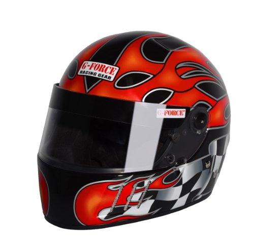 G-Force 3025MEDMB Pro Vintage Matte Black Medium SA10 Full Face Racing Helmet
