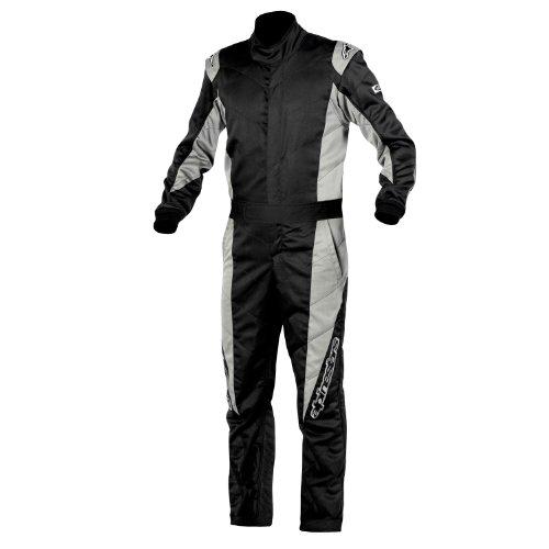 Alpinestars Gp-t Dual Layer Nomex 1 Piece Style Driving Suit (black/dark Gray, Medium)