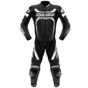 Alpinestars Motegi One Piece Leather Suit 2013 Black White Us 42 Eu 52