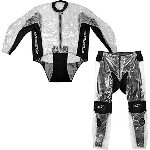 Alpinestars Racing Rain Men's 2-piece Motorcycle Race Suits - Transparent / Size Large