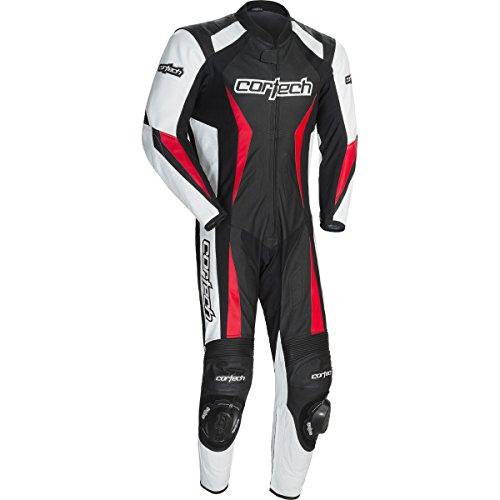 Cortech Latigo 2.0 Men's 1-piece Leather Street Racing Motorcycle Race Suit - Black/red / Medium