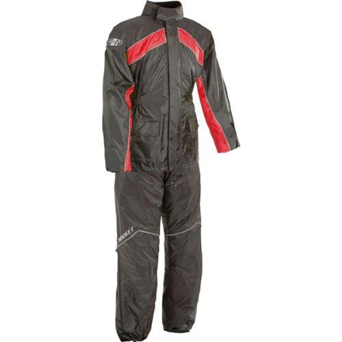 Joe Rocket Rs-2 Men's 2-piece Street Racing Motorcycle Race Suit - Black/red / Large