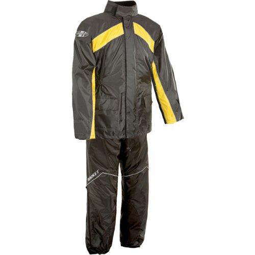 Joe Rocket Rs-2 Men's 2-piece Street Racing Motorcycle Race Suit - Black/yellow / Medium