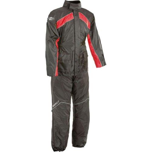 Joe Rocket Rs-2 Men's 2-piece Street Racing Motorcycle Rain Suits - Black/red / Large