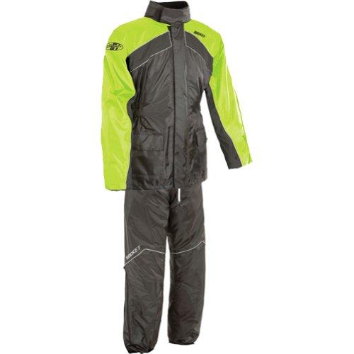 Joe Rocket Rs-2 Men's 2-piece Street Racing Motorcycle Rain Suits - Hi-viz/neon / X-large