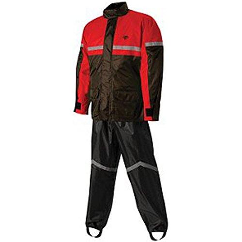 Nelson Rigg Sr-6000 Men's 2-piece Street Bike Racing Motorcycle Rain Suit - Black/red / 2x-large