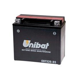 Unibat Maintenance-Free Battery with Acid CBTX20-BS for Harley-Davidson Super Glide Low Rider Shovelhead FXS 1977-1982