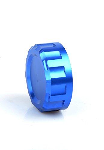 CNC Billet Aluminum Cylinder Reservoir Cover Rear Brake Fluid Reservoir Cap Cover For Yamaha YZF R1 R25 R3 R6 KAWASAKI Z1000 SX ZX6R 10R Z750 800 SUZUKI GSXR600 750 1000 Blue