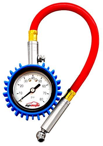 EPAuto Tire Pressure Gauge 80 PSI for Bikes Cars Motorcycle