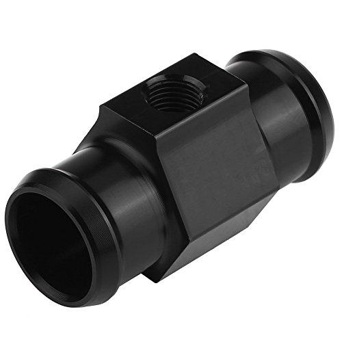 Motorcycle Water Temperature Sensor Adapter Keenso Aluminum Water Temp Meter Gauge Joint Pipe Radiator Sensor Adaptor with 2 Clamps22mm