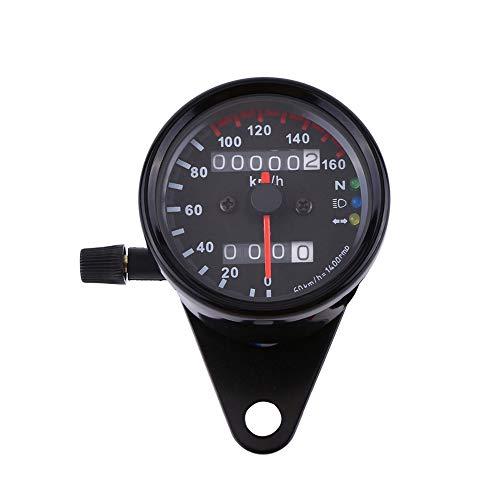 VGEBY1 Motorcycle Odometer Speedometer Gauge Universal Signal Dual Digital Display LED BacklightBlack