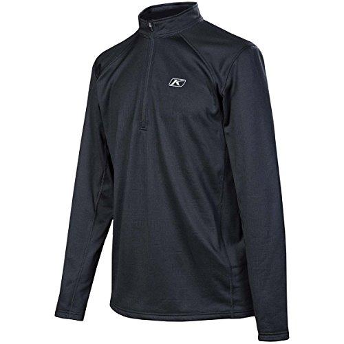 Klim Defender 1/4 Zip Base Layer Top Long-sleeve Shirt Men's Undergarment Off-road/dirt Bike Body Armor - Black