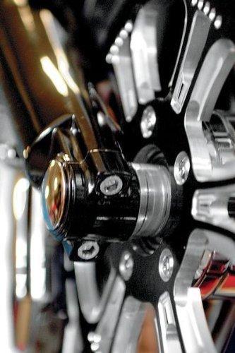 Klock Werks Lower Fork Leg Axle Cap Black for Harley Davidson FL 00-10