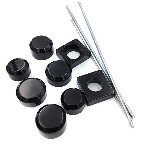 Motorbike Black Aluminum Fork Axle Caps Covers For 96-05 Suzuki Gsxr 600 750 01-04 1000