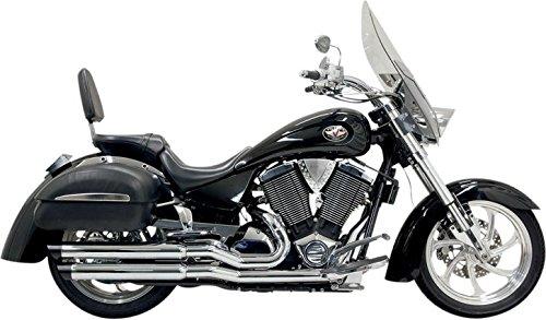 6V13SB Bassani Pro-Street Slash Cut Chrome Exhaust System for 2002-2005 Victory Highball Kingpin and Vegas