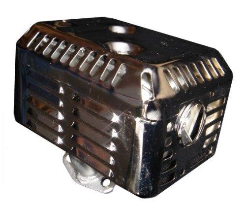 HONDA GX160 GX200 55 HP 65HP CHROME EXHAUST MUFFLER w HEAT SHIELD FITS 55HP