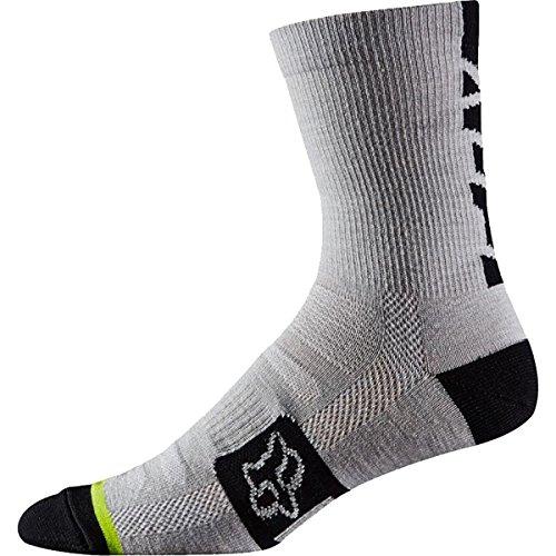 Fox Head Mens Merino Wool Socks 6-Inch Heather White LargeX-Large